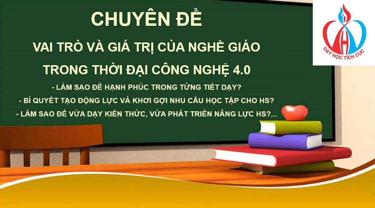 CĐ1: Vai trò và giá trị của nghề giáo trong thời đại 4.0